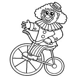 Clown auf dem Fahrrad