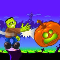 Halloween. Werfen Sie eine Kürbis!