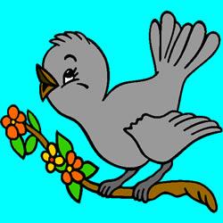 Kleine Vogel Malvorlage