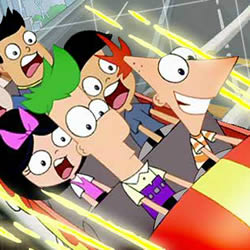 Phineas und Ferb auf der Achterbahn