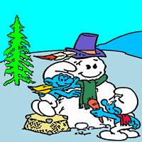 Die Schlümpfe - Neues Jahr Schneemann