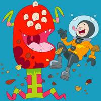 Alien und Astronaut Färbung