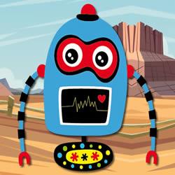 Blau Roboter