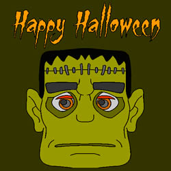 Halloween Frankenstein Färbung