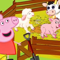 Peppa Wutz Füttere die Tiere