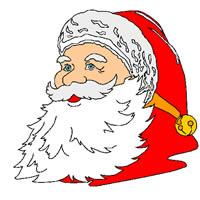 Ausmalbild Portrait von Weihnachtsmann