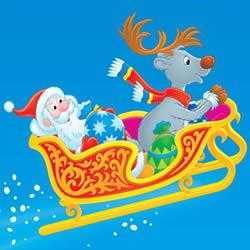 Weihnachtsmann auf Rentierschlitten Puzzle