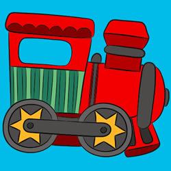 Spielzeugeisenbahn Malvorlage