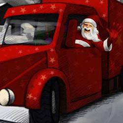 Weihnachten LKW-Parkplatz